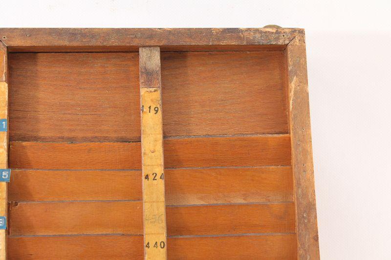 Business & Industrie Alter Kartenhalter Register Stechkarte Stempelkarten Stechkarten Holz Vintage