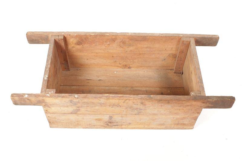 schöne alte Holzkiste mit Schlaufe Kiste Holz art deco vintage Schieber