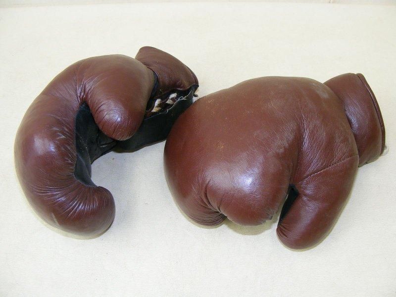 Beau ancienne gants de boxe d co vintage culte r tro - Gants de boxe vintage ...