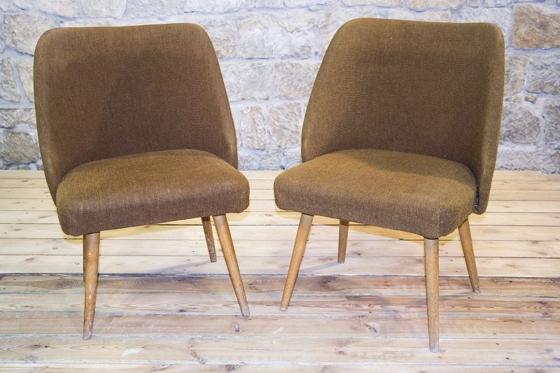 2 pcs stuhl cult retro club chair lounge chair chair stoff pair ebay. Black Bedroom Furniture Sets. Home Design Ideas
