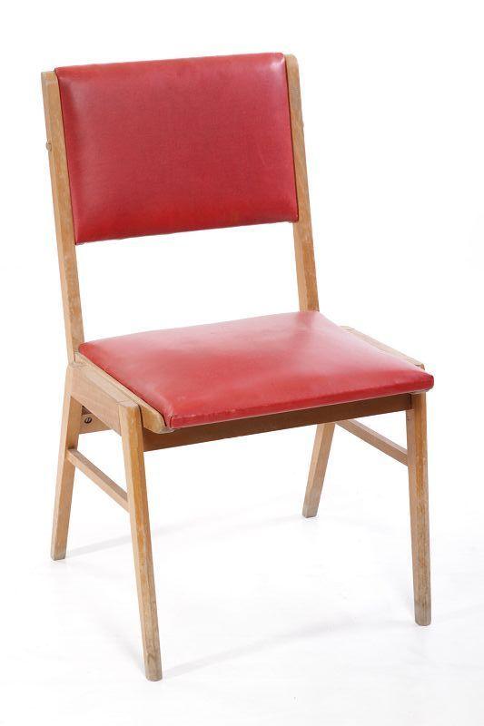 Bella vecchio legno sedia rosso anni 39 60 anni 39 70 anni for Sedia design anni 70