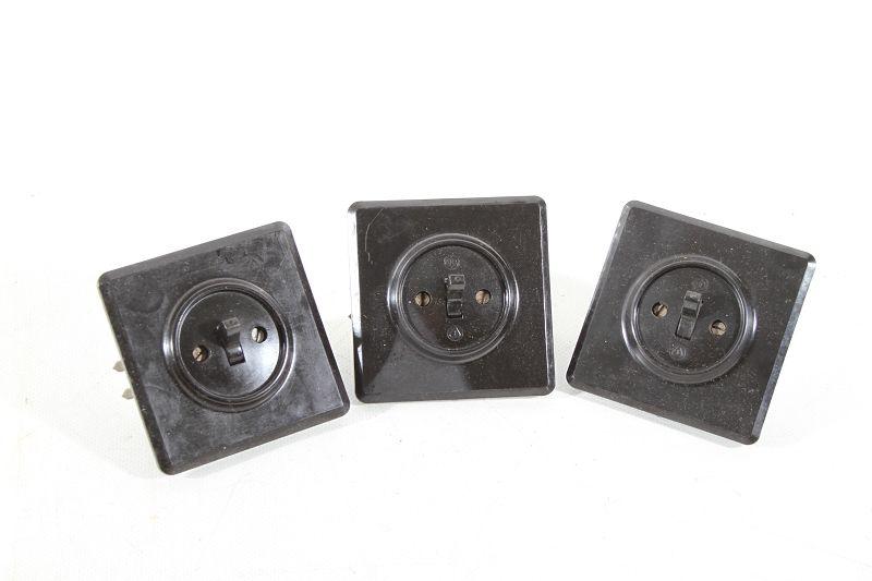 Alter Bakelit Schalter Unterputz Lichtschalter UP Serienschalter Art Deco Loft
