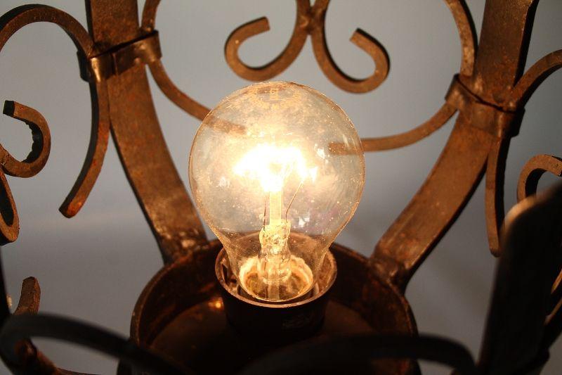 sch ne alte lampe metall gestell ohne schirm old vintage ebay. Black Bedroom Furniture Sets. Home Design Ideas