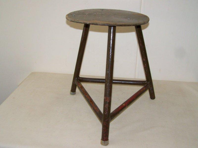 Ancien tabouret d 39 atelier designer tabouret bois m tal vintage de bar chaise ebay - Tabouret d atelier vintage ...