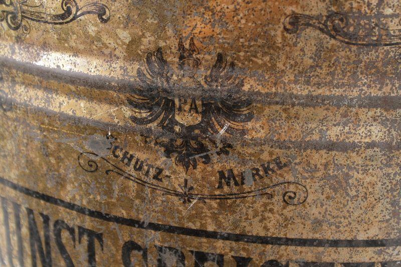 Grand ancienne boite de conserve bo te vide londres art - Acheter boite de conserve vide ...