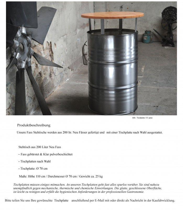 stehtisch bartisch tresentisch aus 200 liter neu fass messetisch lfass ebay. Black Bedroom Furniture Sets. Home Design Ideas