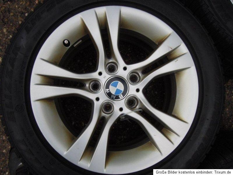 BMW E90 E91 Alufelgen Felgen Winterreifen Bridgestone 205/55 R16 91H