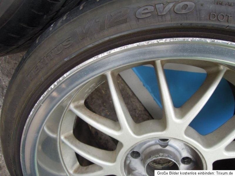 CR 7 Alufelgen Felgen 8,5 + 9,5 x 17 Zoll Tiefbett 4x100 BMW E30
