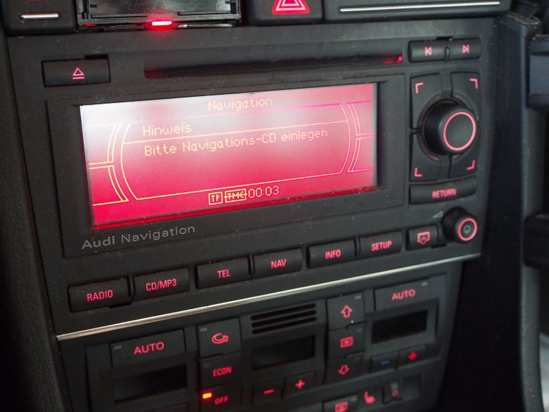 audi a4 b7 8e navi navigation cd radio autoradio mp3 8e0035192 ebay. Black Bedroom Furniture Sets. Home Design Ideas