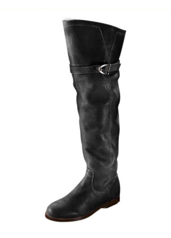 buy online 4155e 6b7a9 Details zu Heine Stiefel Gr. 35 36 Leder schwarz Overknees Damen Schuhe  Echtleder NEU