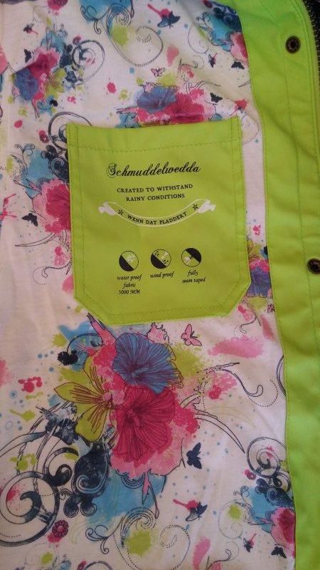 XS S M limone grün Jacke Outdoorjacke Damen Schmuddelwedda Anorak Gr