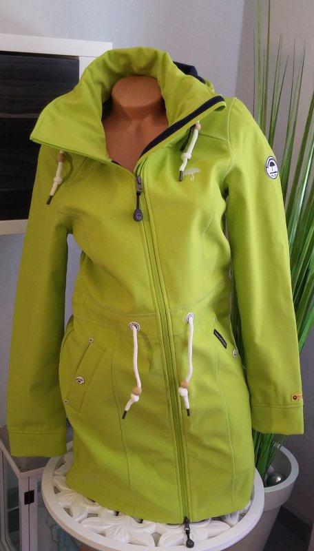 Schmuddelwedda Softshelljacke Gr. S limone grün Damen Jacke