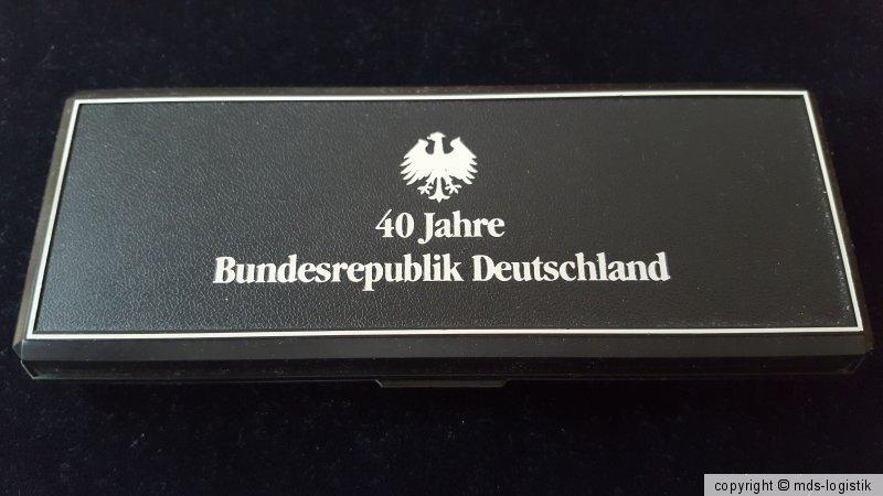 Mds Deutschland Medaillen Set Pp Proof 40 Jahre Bundesrepublik