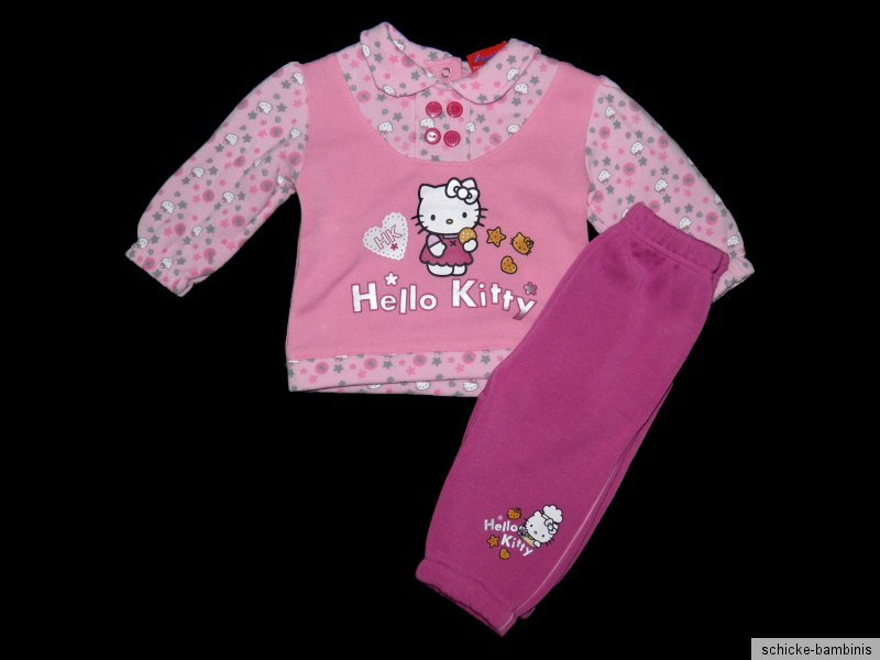 Jogginganzug Hello Kitty Jogger Pulli Jogginghose 62 68 74 80 86 92 NEU rosa