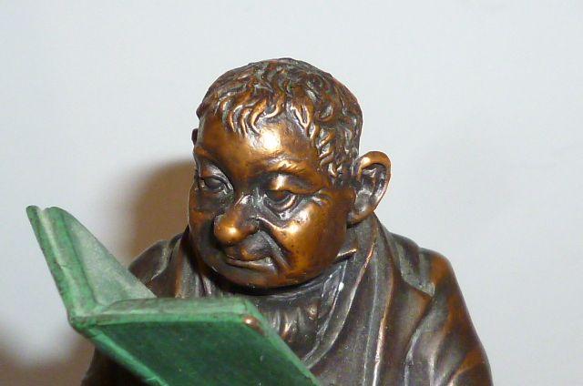 bronzefigur lehrer professor auf stuhl 28cm bronze bronce figur 2 7kg skulptur ebay. Black Bedroom Furniture Sets. Home Design Ideas