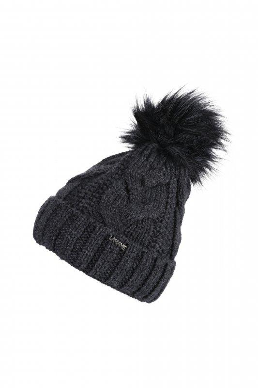 Vivisence Dame Bommel M/ütze Kopfbedeckung Winter Warm Dick Gemustert 7018 In EU Hergestellt