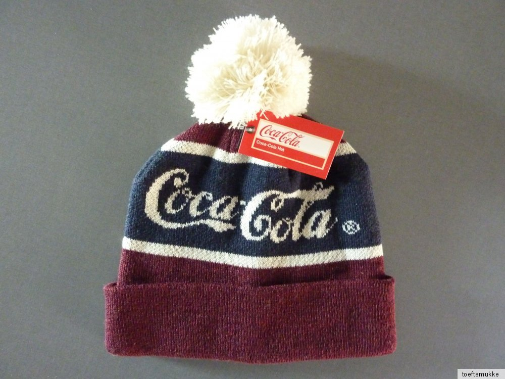 neu coca cola damen bommelm tze beanie hat winter herren coke strickm tze unisex ebay. Black Bedroom Furniture Sets. Home Design Ideas