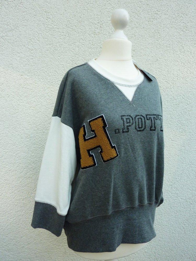 Harry Potter Damen Sweatshirt Pullover Pulli Übergang S M L XL Grau Neu Primark