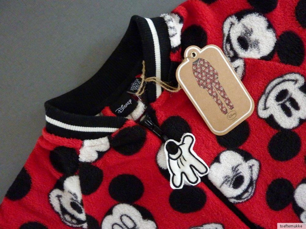 neu disney mickey mouse damen onesie fleece jumpsuit hausanzug schlafanzug rot ebay. Black Bedroom Furniture Sets. Home Design Ideas
