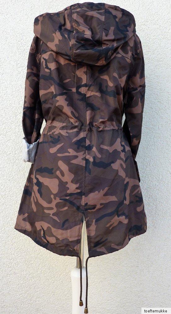 neu damen regenjacke camouflage parka festival jacke. Black Bedroom Furniture Sets. Home Design Ideas