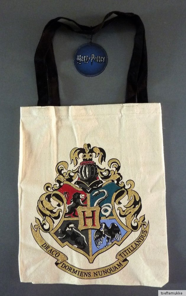 neu harry potter hogwarts tasche einkaufstasche jutebeutel tragetasche primark ebay. Black Bedroom Furniture Sets. Home Design Ideas