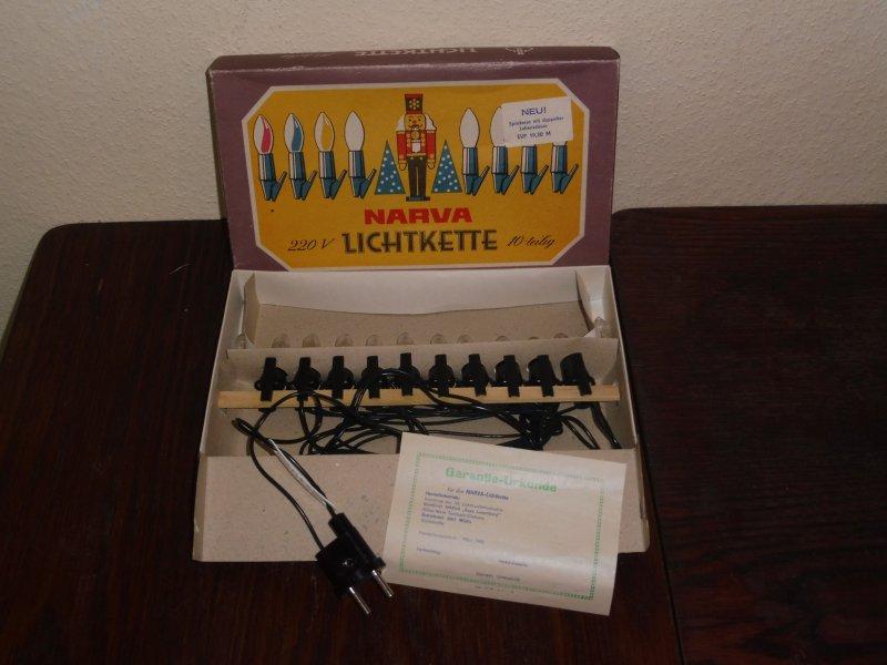 2 Stück Narva Topkerzen GRÜN 22 V 5 W für Lichterbogen Lichterkette DDR