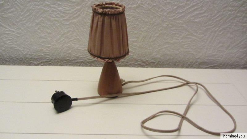 d nische tisch lampe fensterbank nachttischlampe leuchte holz 39 60er jahre ebay. Black Bedroom Furniture Sets. Home Design Ideas