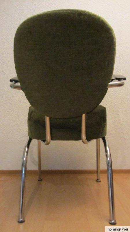 Stahlrohr sessel stuhl b rostuhl federkern rockabilly for Stuhl stahlrohr