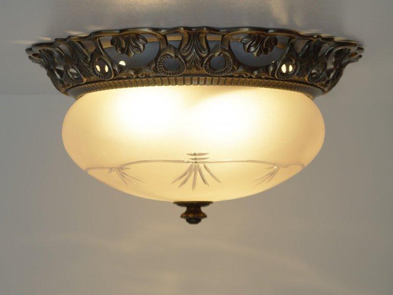 Plafoniere No Led : Art nouveau plafoniere ceiling light wall plafonier brass ebay