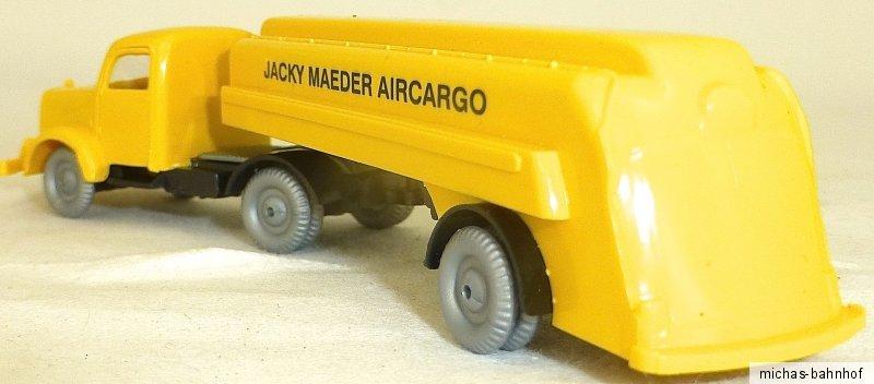 Model Building Trailer Truck Mercedes 5000 Jacky Maeder Aircargo Imu H0 1:87 Å √