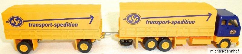 Toys, Hobbies Asg Transport Spedition Roadtrain Volvo Truck H0 1:87 Hj1 Å √