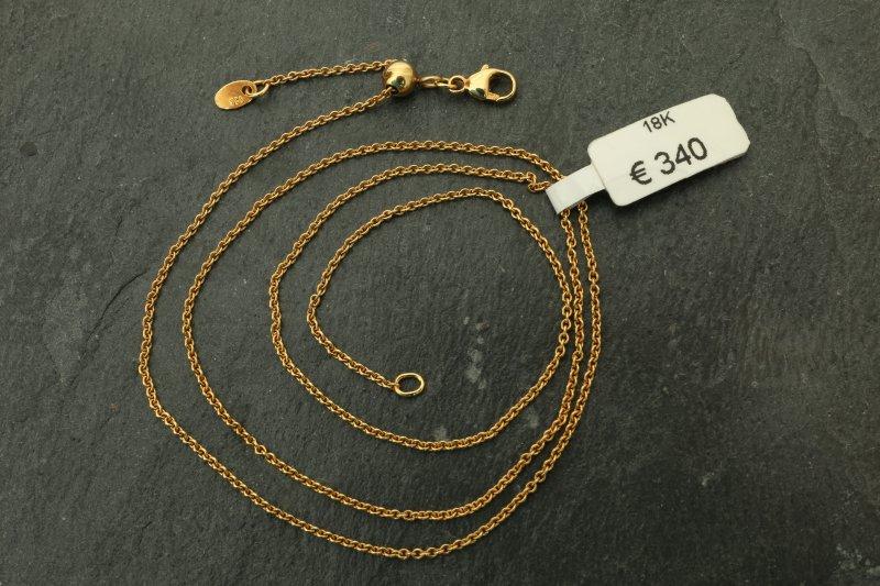 Schlangenkette 1 mm Halskette 750 Gold 18 Karat vergoldet Damen Herren K1449L