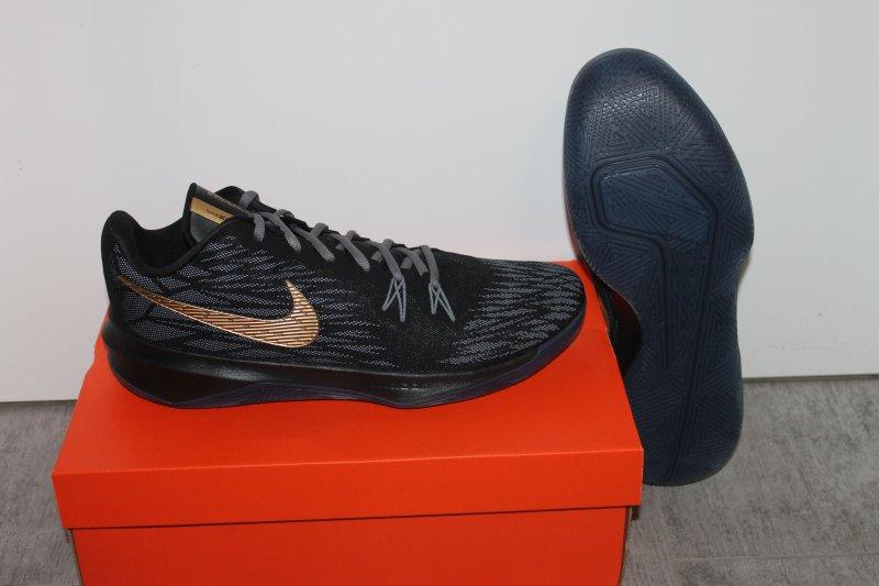 Nike Herren Zoom Evidence II Basketball Schuh Schwarz Gold