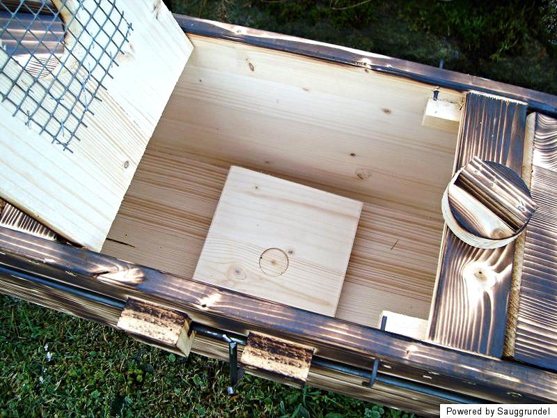 marderfalle kastenfalle lebendfalle massivholz 100 cm durchlauffalle ebay. Black Bedroom Furniture Sets. Home Design Ideas