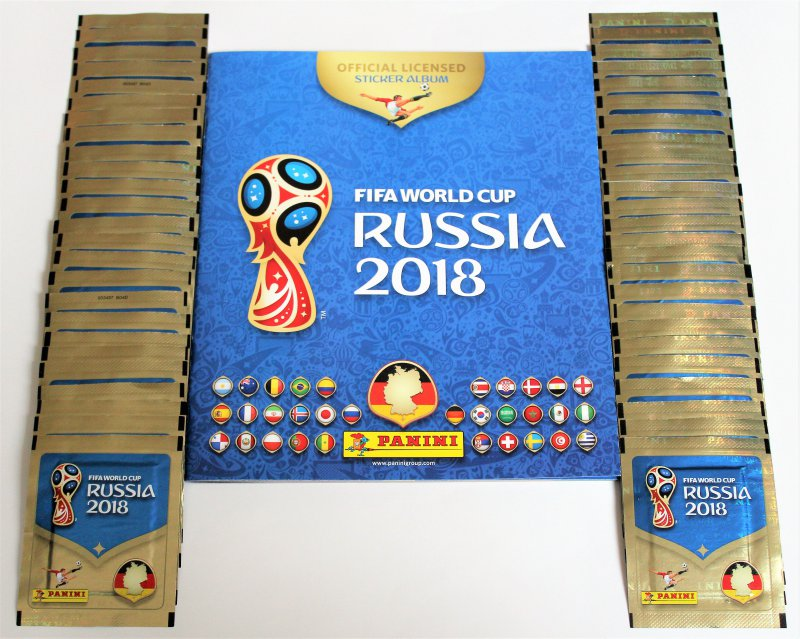 internationale version Panini WM 2014-50 Tüten pink