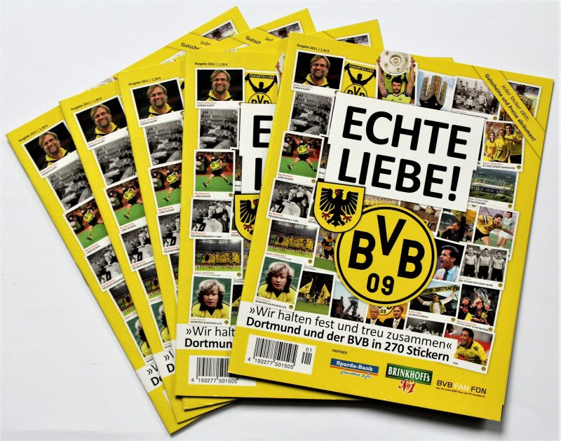 Panini Echte Liebe Bvb 5 X Leeralbum Bundesliga Borussia