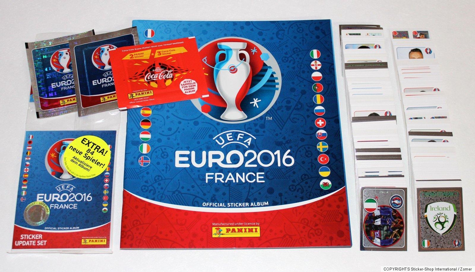 Leeralbum album INTERNATIONAL VERSION 100 Tüten packets Panini EM Euro 2012