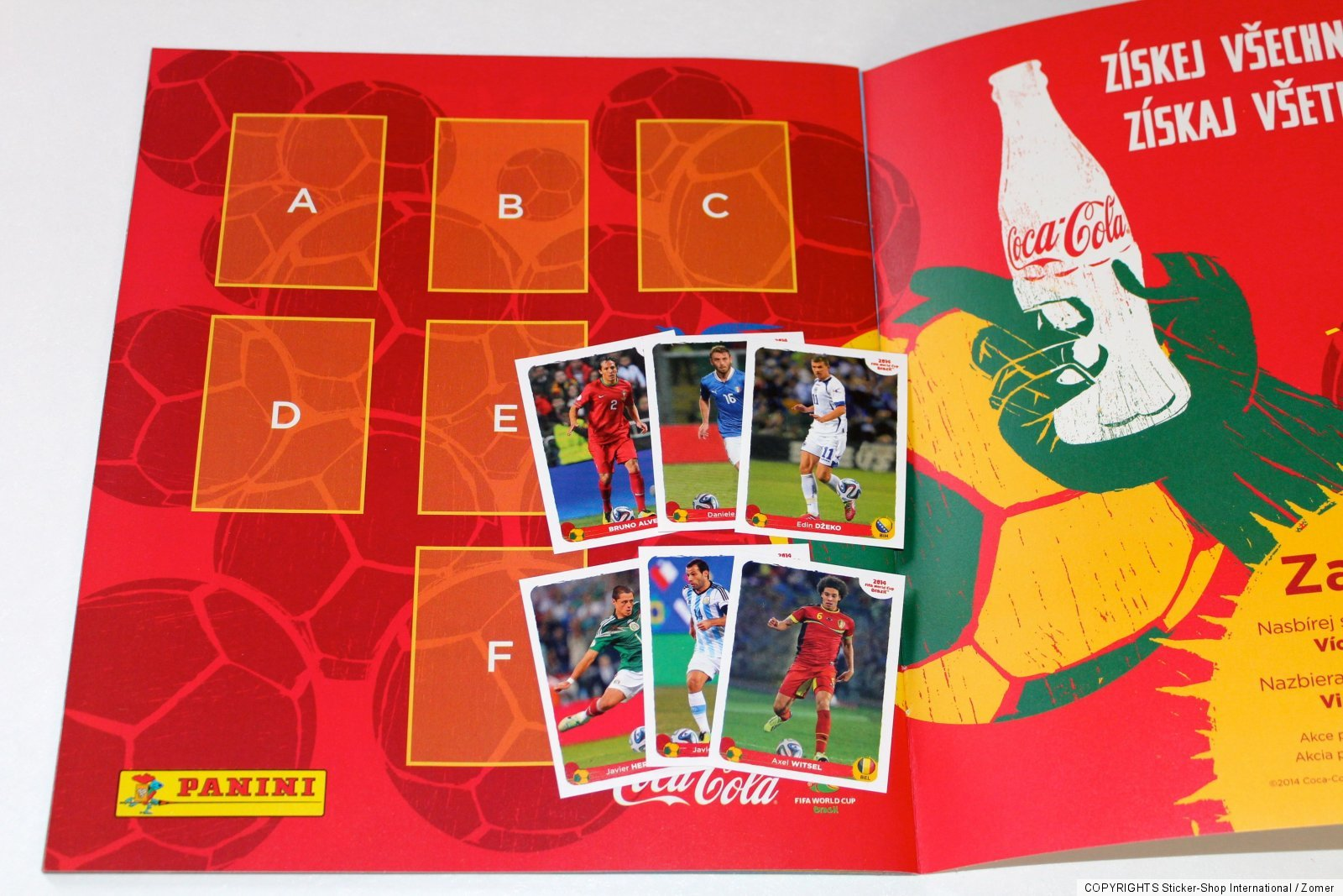 panini wc wm brasil 2014 empty album coca cola update sticker a f int ed ebay. Black Bedroom Furniture Sets. Home Design Ideas