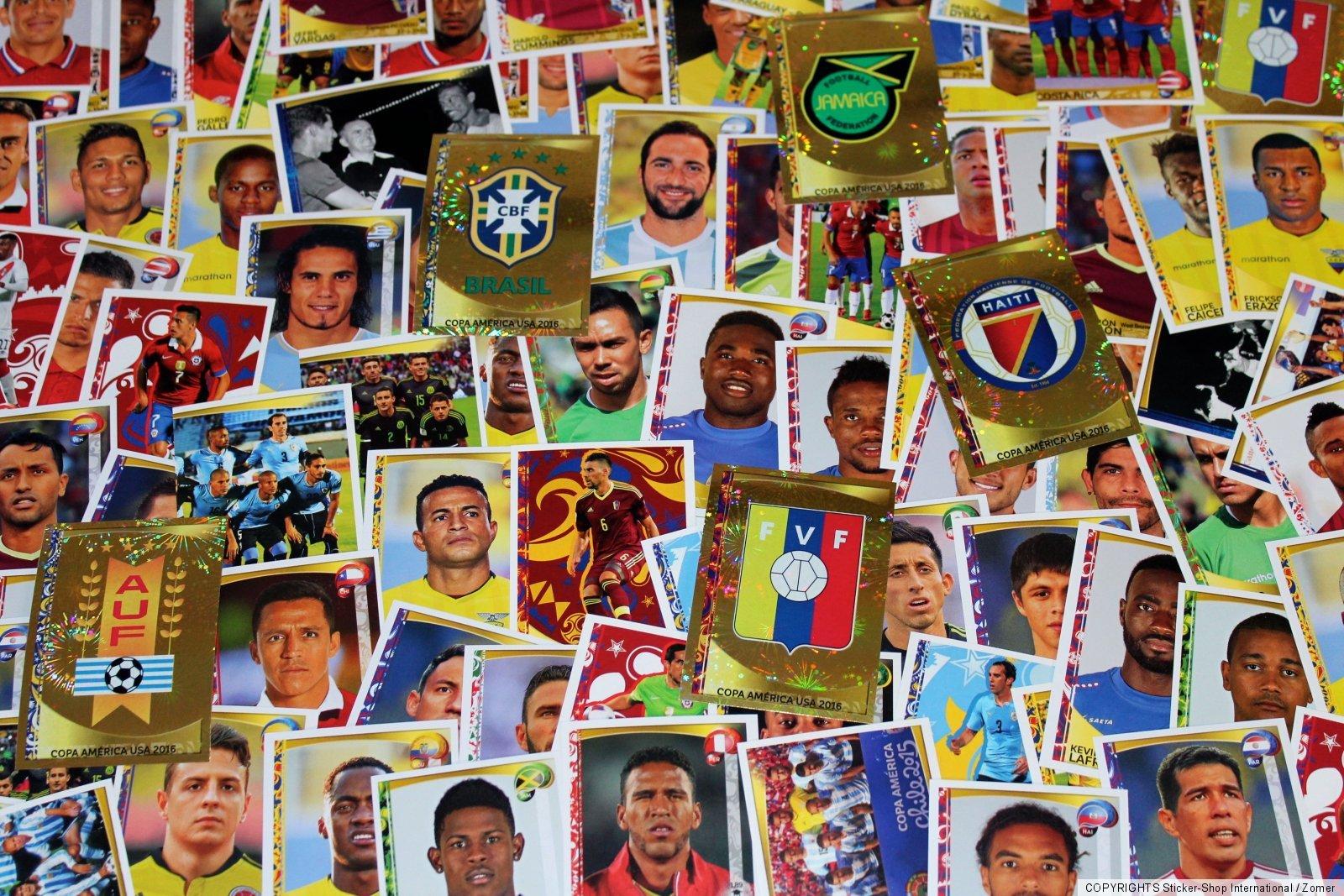Panini Copa America Centenario USA 2016 Afficher Boîte 50 Sacs Packets Album