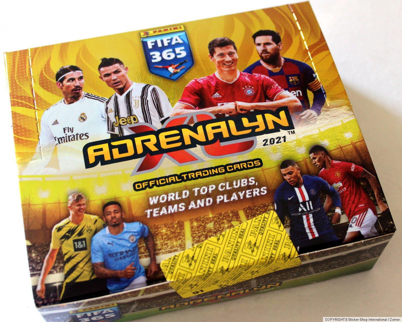 24 Booster Gold Pack Mini Tin Panini Adrenalyn XL FIFA 365 2021 Display Tin