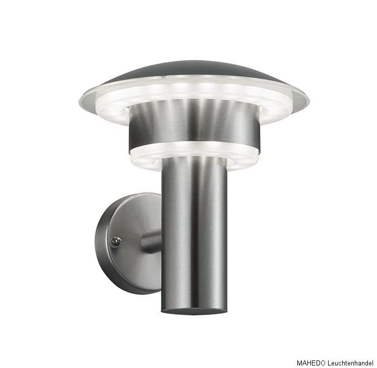 design led au en au enleuchte wandlampe lima edelstahl bewegungsmelder wahl ip44 ebay. Black Bedroom Furniture Sets. Home Design Ideas