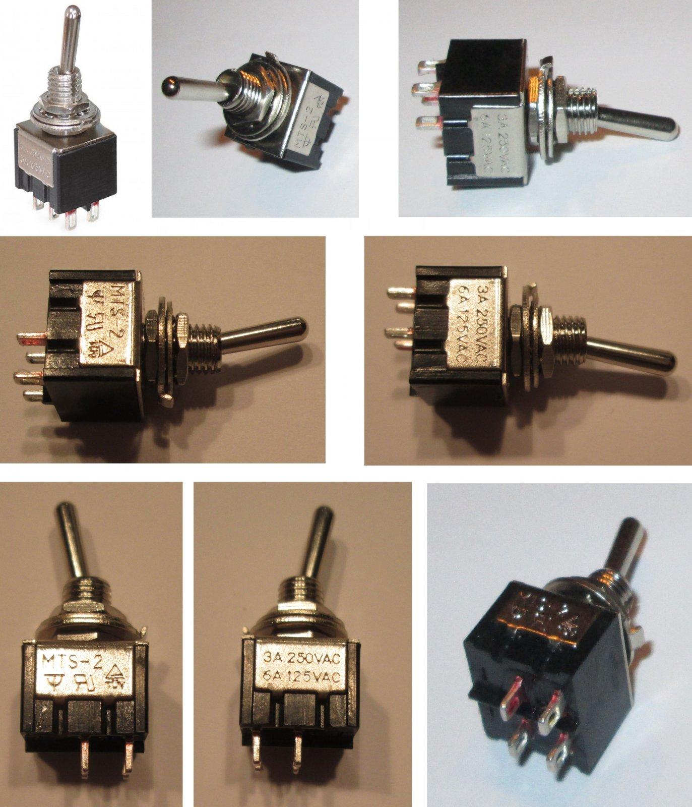 Mini Miniatur Einbauschalter Geräte Netz Schalter klein Kippschalter ...