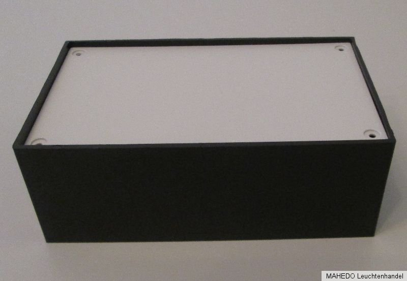 Universal Geräte Leer DIY Gehäuse Case Box Kunststoff Plastik Schwarz Silber