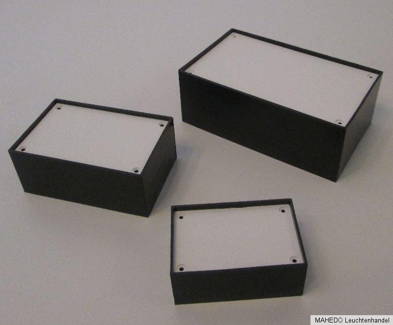 Gehäuse Modulgehäuse Kunststoff schwarz 10//20//30P Box für Elektronik Case Kasten