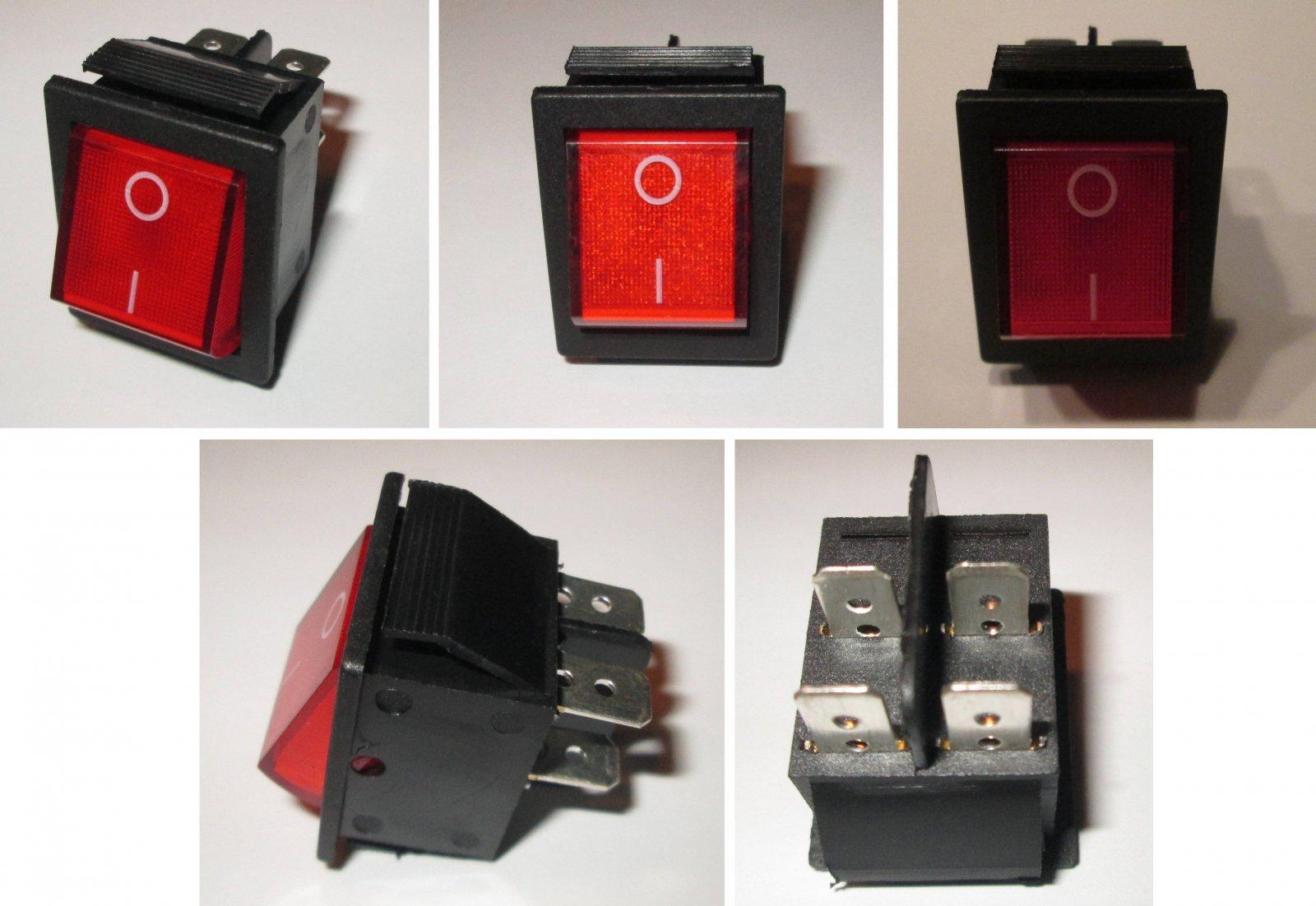 Einbauschalter Geräte Schalter Wippschalter Netzschalter beleuchtet ...
