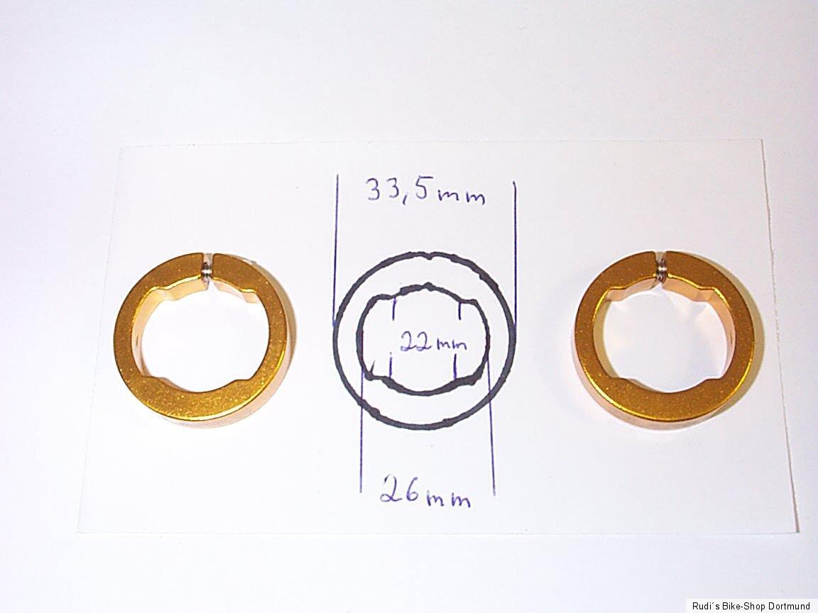Klemmring für Fahrrad-Griff,Passend für viel Hersteller CLARKS Lock-Ring GOLD