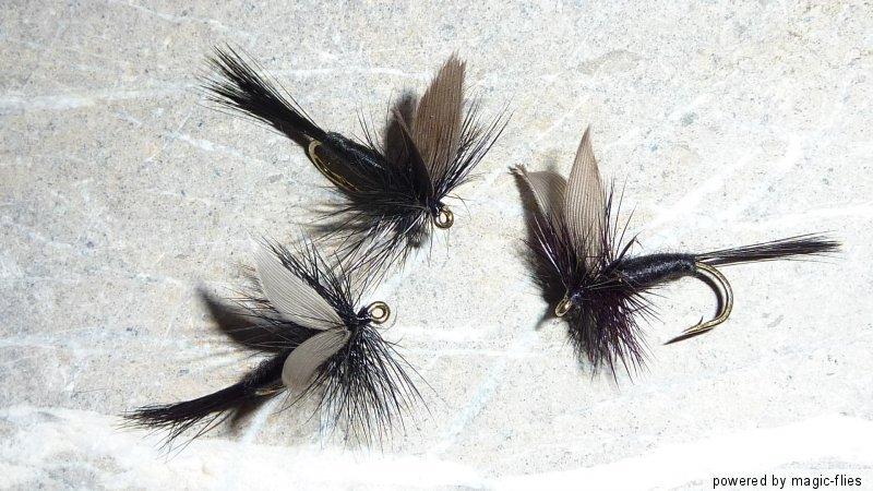 4 st black gnat trocken fliege bachforelle. Black Bedroom Furniture Sets. Home Design Ideas