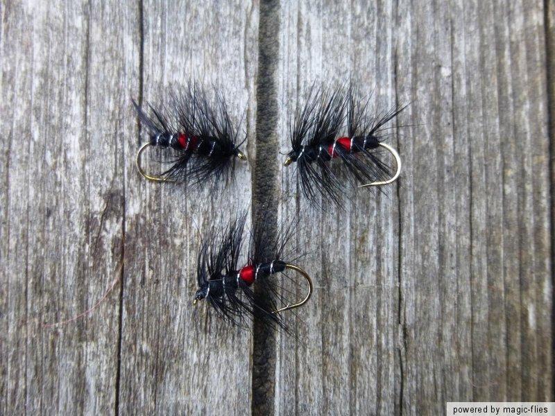 4 st bibio nass fliegen fischen bach regenbogen forelle. Black Bedroom Furniture Sets. Home Design Ideas