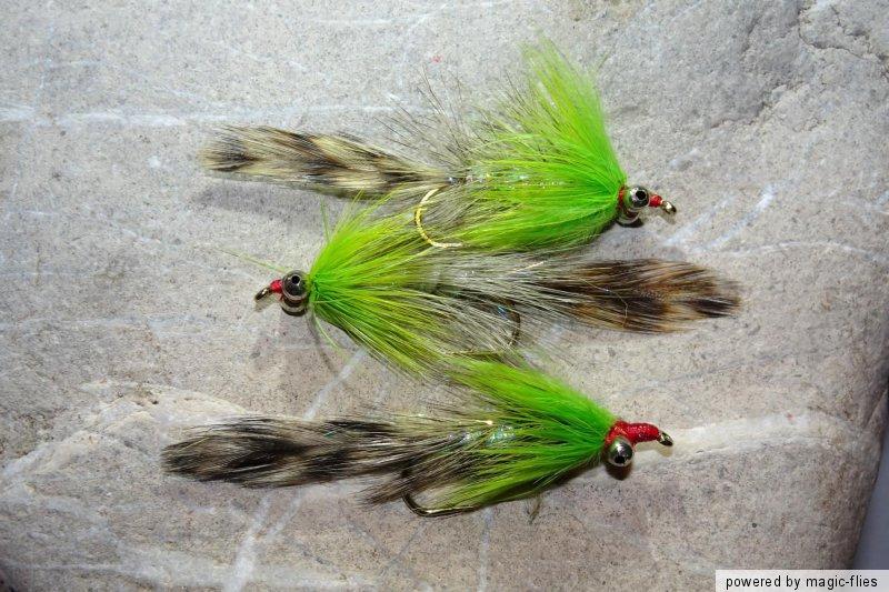 3 St BLACK POLAR MAGNUS Streamer # 6 Fliegenfischen Regenbogenforelle Saibling