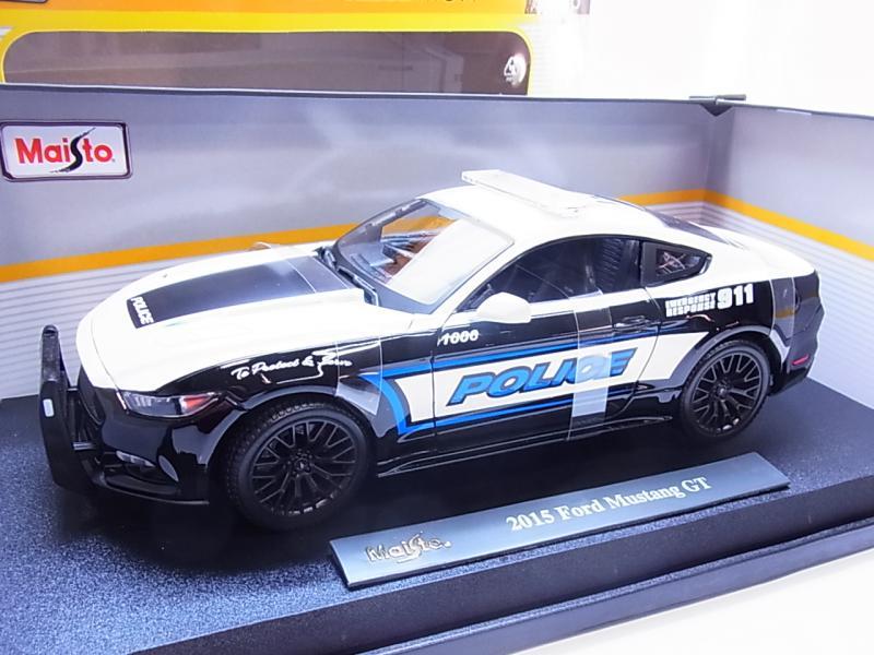 54636Maisto 36203 Ford Mustang GT Polizei Police Modellauto 1:18 NEU in OVP